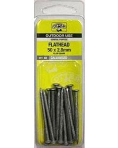 Otter Nail Flathead Galvanised 50x2.80mm (18 Pack)