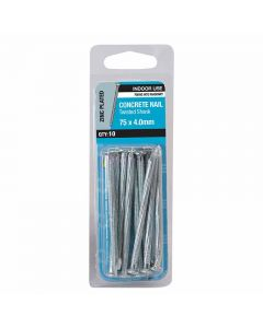 Otter Nail Concrete Fluted Zinc Plated 75x4.00mm (10 Pack)