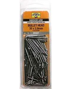 Otter Nail Bullet head Bright Steel 30x2.00mm (110 Pack)