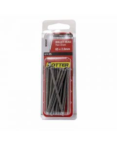 Otter Nail Bullet head Bright Steel 65x2.80mm (25 Pack)