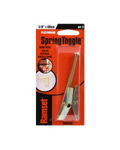 """Ramset Spring Toggle Round Head 3/16"""" x 100mm 10kg (2 Pack)"""