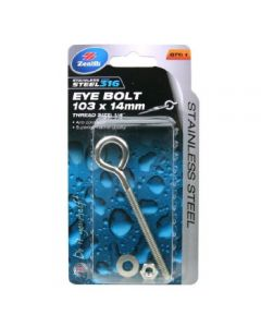 Eyebolt 316 Ss 103 X 14Mx 1/4In Bsw