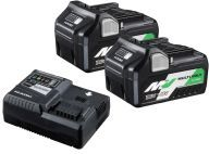 Hikoki Multi Volt Lithium-Ion Battery 3 Piece Kit