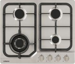 Milano Gas Stainless Steel Cast Iron Cooktop 60cm