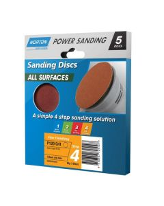 Norton All Surface Sanding Sheet 125mm No/Hole Fine P120 (5 Pack)