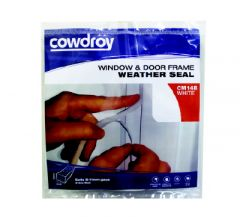 Cowdroy White Window and Door Frame Weather Seal 2.5m
