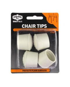 Tip Chair Rubber White Round 25Mm Pk4