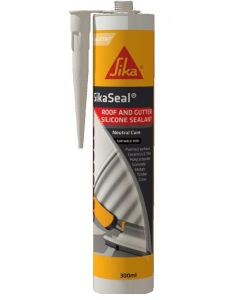 Sika Sikaseal® Roof & Gutter Silicone Sealant White 300ml