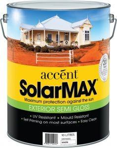 Accent® SolarMax Exterior Semi Gloss White 10L