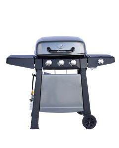 3 Burner Hooded BBQ with Side Burner