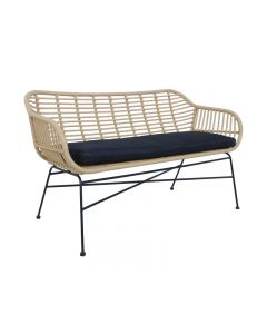Cayman Double Seater Wicker Bench