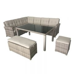 Devon 5 Piece Wicker Lounge Setting