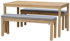 Cheshire 3 Piece Timber Bench Setting