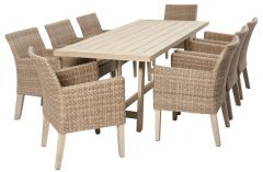 Aruba 9 Piece Wicker Setting