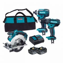 Makita 18V 3Pce Combo Kit