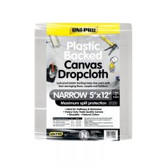 Uni-Pro Plastic Backed Canvas Drop Cloth Narrow 1.5 x 3.6m