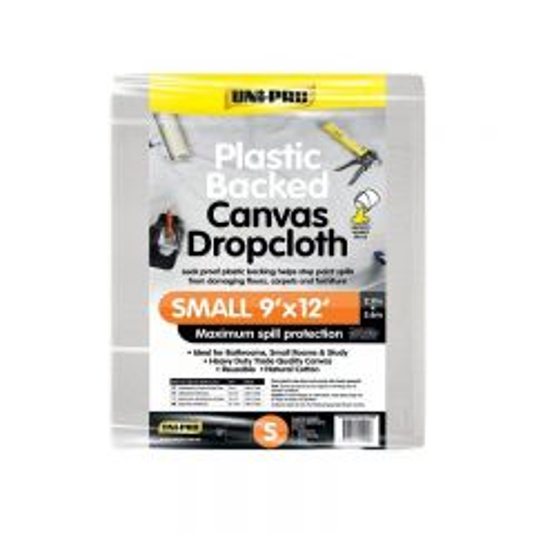 Uni-Pro Plastic Backed Canvas Drop Cloth Small 2.7 x 3.6m