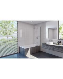 Decina Bath Screen Pivot Panel Cascade Chrome