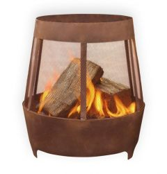 Outdoor Inspirations Corten Rotund Firepit 500mm