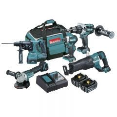 Makita 18V 5.0Ah 5 Piece Brushless Combo Kit with Reciprocating Saw