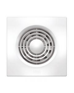 HPM 100Mm Wall Fan Slimline Square White