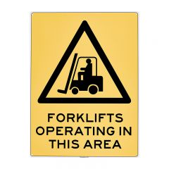 SIGN LARGE PP FORKLIFTS OPERATING