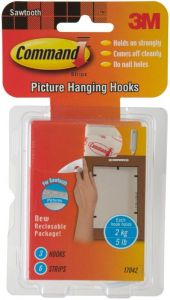 Command Sawtooth Picture Hangers Value 3pk