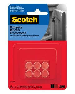 Scotch Rubber Bumpers Clear 1.2cm Pack of 18