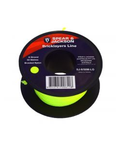 Spear & Jackson 50m Green Fluoro Bricklayers Line