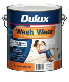 Dulux Wash & Wear Pre-Tinted Low sheen 4L Antique White USA