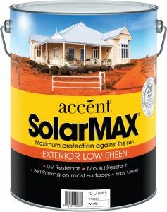 Accent® SolarMax Exterior Low Sheen White 10L