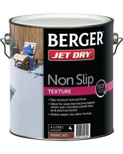 Berger Jet Dry Non Slip Text 4L Red
