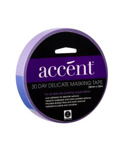 Accent® 30 Day Masking Tape 24mm x 50m