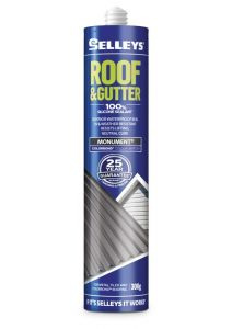 Selleys 300g Roof & Gutter Silicone Sealant Monument