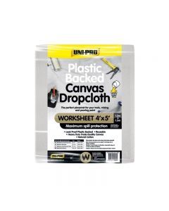 Uni-Pro Plastic Backed Canvas Dropcloth