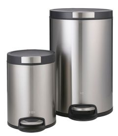 Artistic Step Bin Set Stainless Steel 20L and 5L