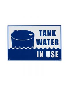 SIGN MEDIUM PP TANK WATER IN USE
