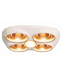 HPM Instant Heat 4Lamp & Fan Ceramic Lampholder