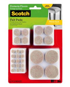 Scotch Value Pack Felt Pads Beige Pack of 162
