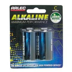 Arlec Alkaline Battery - 2 X C