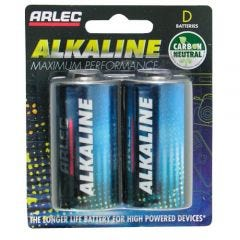 Arlec Alkaline Battery - 2 X D