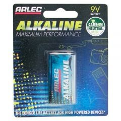Arlec Alkaline Battery - 9V