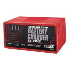 Arlec Compact Auto Battery Charger 4500 12V Charger with Boost Switch
