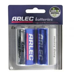 Arlec Extra Heavy Duty Battery - 2 X D