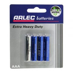 Arlec Extra Heavy Duty Battery - 4 X AAA