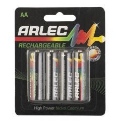 Arlec Rechargeable Battery - 4 x AA