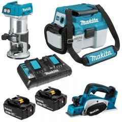 Makita 18V 5.0Ah 3 Piece Brushless Combo Kit DLX3120TX1