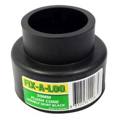 FIX-A-LOO Flush Cone Double Skirt Black 50mm