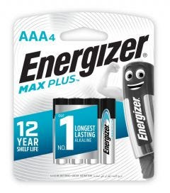 Energizer Max Plus AAA Battery 4 Pack