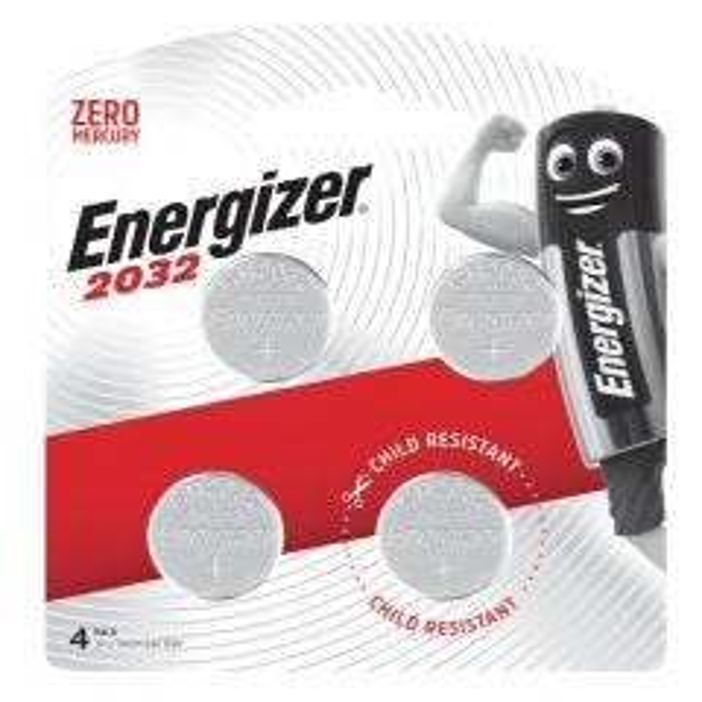 Energizer 2032 Lithium Coin Battery 3V 4 Pack
